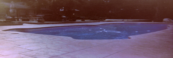 stamped concrete patio / pool deck